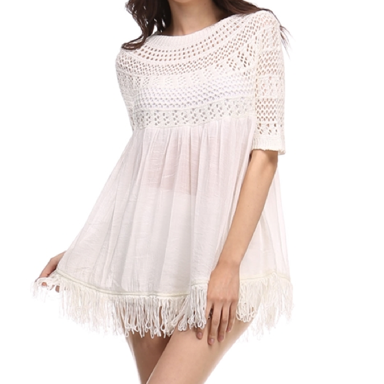 desert wanderer knit tunic in ivory - shophearts - 4