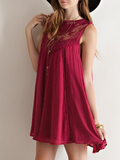 burgundy boho crochet lace dress - shophearts - 5