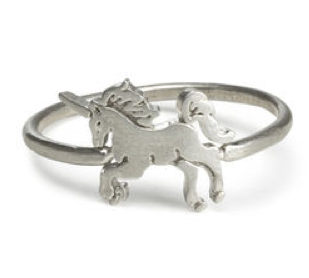 dogeared - life is magical unicorn ring in sterling silver - shophearts - 2