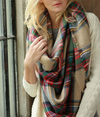 oversize plaid blanket scarf - shophearts - 3