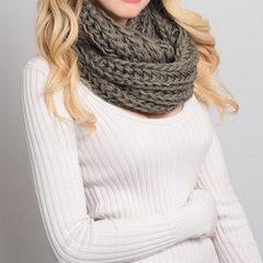 chunky braided knit infinity scarf - shophearts - 5