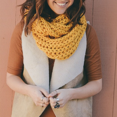 chunky braided knit infinity scarf - shophearts - 2