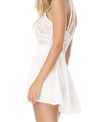 coco lace front wrap romper in ivory - shophearts - 8