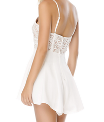 coco lace front wrap romper in ivory - shophearts - 9
