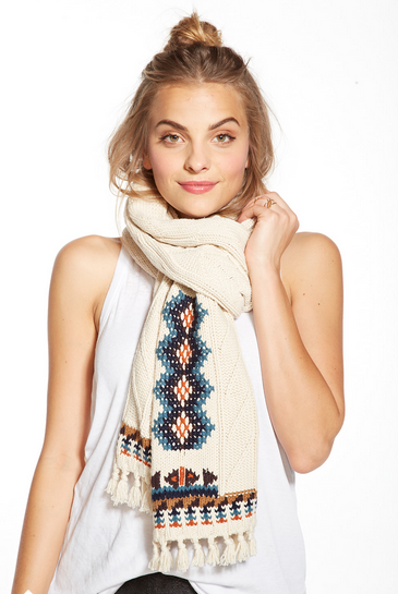 chaser - campfire knit fringed scarf - shophearts - 4