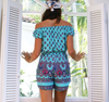 LÉ SALTY - palms playsuit in turquoise - shophearts - 6