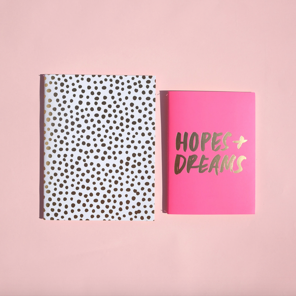 ban.do good ideas notebook set - petite party dot + hopes + dreams - shophearts - 2