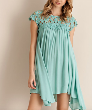 floral crochet lace cap sleeve summer dress (more colors) - shophearts - 10