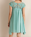 floral crochet lace cap sleeve summer dress (more colors) - shophearts - 11