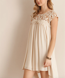 floral crochet lace cap sleeve summer dress (more colors) - shophearts - 12