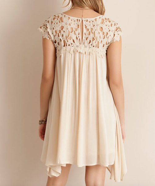 floral crochet lace cap sleeve summer dress (more colors) - shophearts - 13