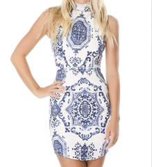 oh so fine porcelain print dress - shophearts - 6