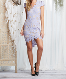 first day lilac floral appliqué bodycon dress - shophearts - 2