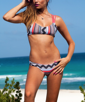 khongboon swimwear - centre reversible criss-cross full-cut handmade bikini - shophearts - 4