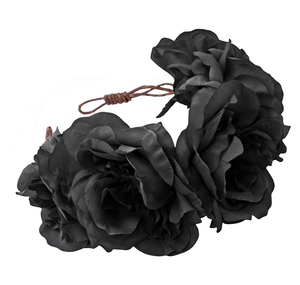 Rock 'N Rose - Ophelia Handmade Flower Crown - black - shophearts - 2