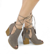 Madelynn suede open toe bootie - shophearts - 6