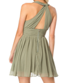 lost valley deep plunge dress in olive - shophearts - 7