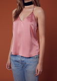 muse satin camisole - rose