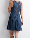 so baroque about you romantic sleeveless lace dress [womens] - teal - shophearts - 7