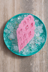 sunnylife - Ice Cream Ice Trays 2 Set - Pink and Turquoise - shophearts - 3