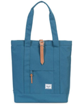 herschel supply co. - womens market tote -  Indian Teal/Tan Pebbled Leather - shophearts - 2