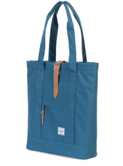 herschel supply co. - womens market tote -  Indian Teal/Tan Pebbled Leather - shophearts - 3