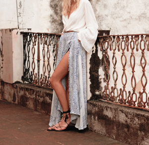 the jetset diaries - antigua scarf floral print maxi skirt - shophearts - 2