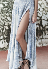 the jetset diaries - antigua scarf floral print maxi skirt
