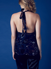 hailey burnout velvet halter top - navy - shophearts - 4