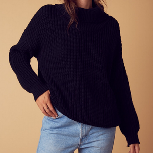 citrus oversize sweater - black - shophearts - 2