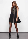 minkpink - opulent embroidered swing dress - black - shophearts - 2