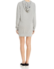 michelle by comune - 'quinlan' heather grey french terry hoodie dress - shophearts - 5