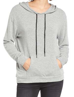Michelle by Comune - 'cove' french terry hoodie - heather grey - shophearts - 4