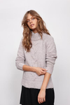 minkpink - now & then mock neck chunky knit sweater - light grey - shophearts - 3