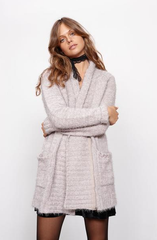minkpink - now & then chunky knit sweater coat - light grey - shophearts - 2
