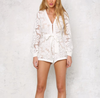dark magnolia - constructed romper with nude lining - white - shophearts - 1