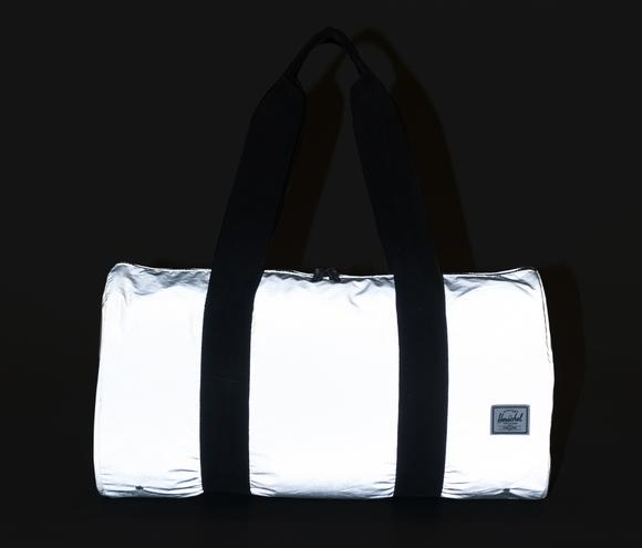 herschel supply co. - 'packable duffle' - reflective silver - shophearts - 2