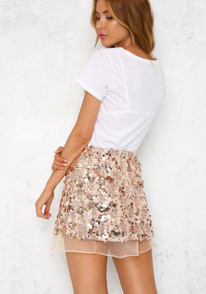 set the tone sequin disc separates- rose gold - shophearts - 9