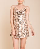 set the tone sequin disc mini dress - rose gold - shophearts - 2