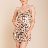 set the tone sequin disc mini dress - rose gold - shophearts - 3