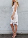 Lioness - Loves Divine Midi Lace Overlay Midi Dress - White - shophearts - 3