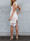 Lioness - Loves Divine Midi Lace Overlay Midi Dress - White - shophearts - 4