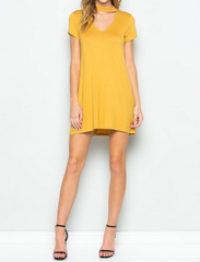 BSIC - choker mini swing dress - mustard - shophearts - 2