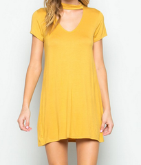BSIC - choker mini swing dress - mustard - shophearts - 3