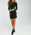 motel - DELUXE Gabby Sequin Plunge Back Dress in Iridescent Green - shophearts - 4