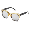 quay - bronx half-rimmed sunglasses - coffee with silver mirror lens - shophearts - 2