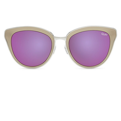 quay - every little thing cat eye sunnies - silver/pink - shophearts - 2