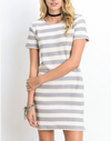 striped french terry tee shirt dress - shophearts - 2