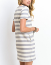 striped french terry tee shirt dress - shophearts - 3