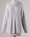 material girl choker sweater - grey - shophearts - 6